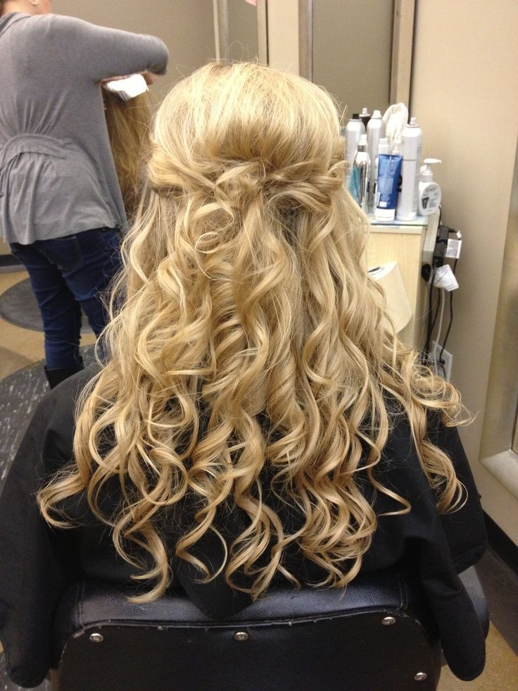 Beautiful Long Blonde Homecoming and Prom Hairstyle en ...