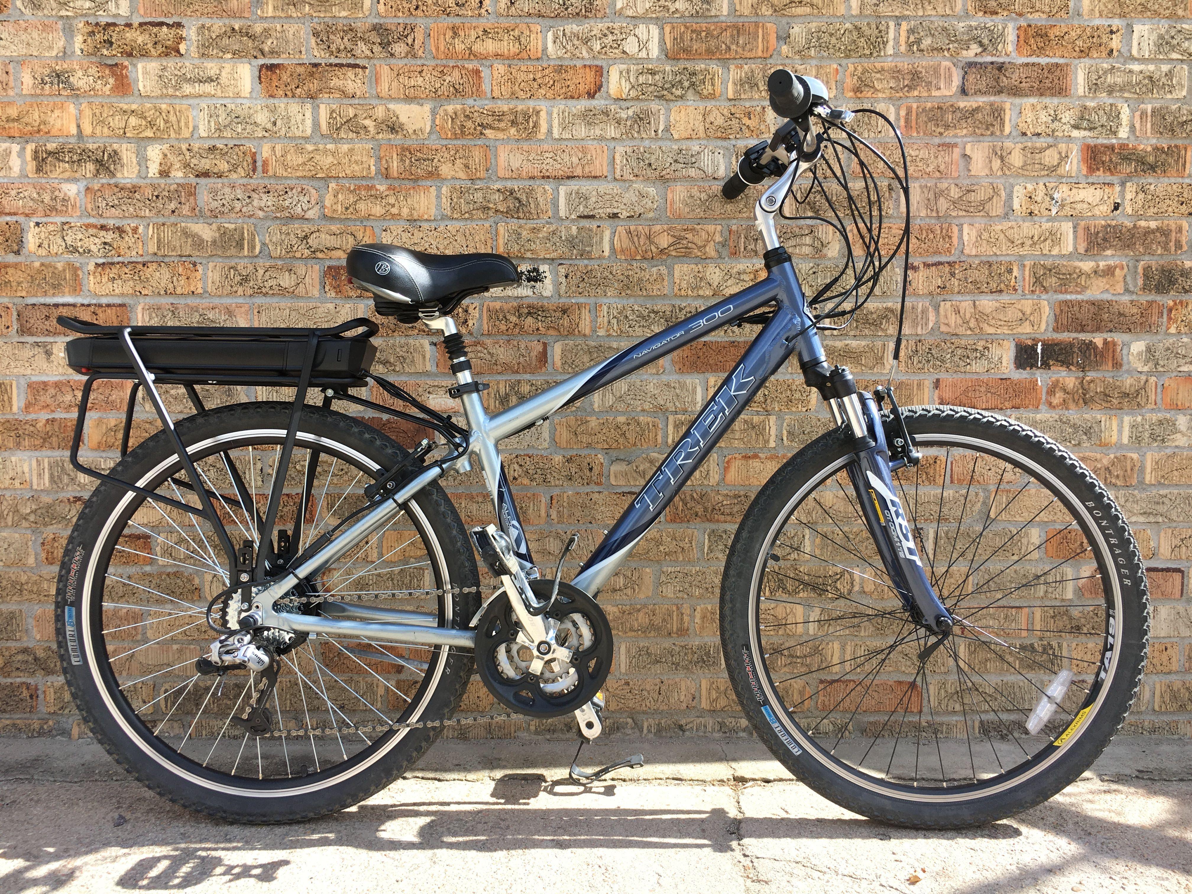 Ebo Cruiser Electric Bike Kit Installed On A Trek Navigator 300
