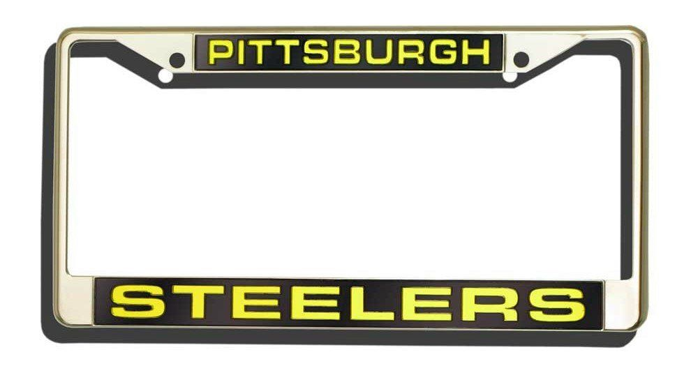 Pittsburgh Steelers Laser Cut Chrome License Plate Frame | License ...