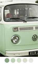 DREAM - Mooie mint groene oude VW bus
