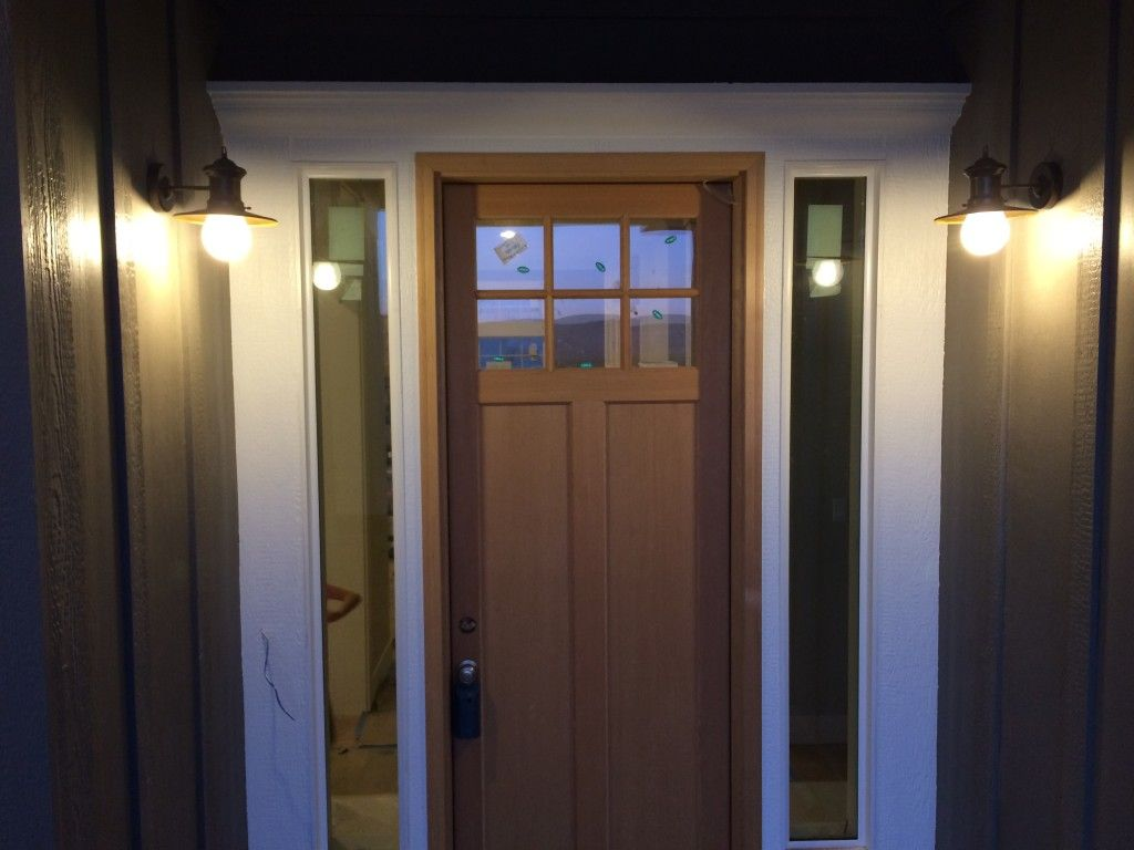 Exceptionnel Front Door Entryway Lights On Opposite Sides Of Front Door Front Porch  Lights