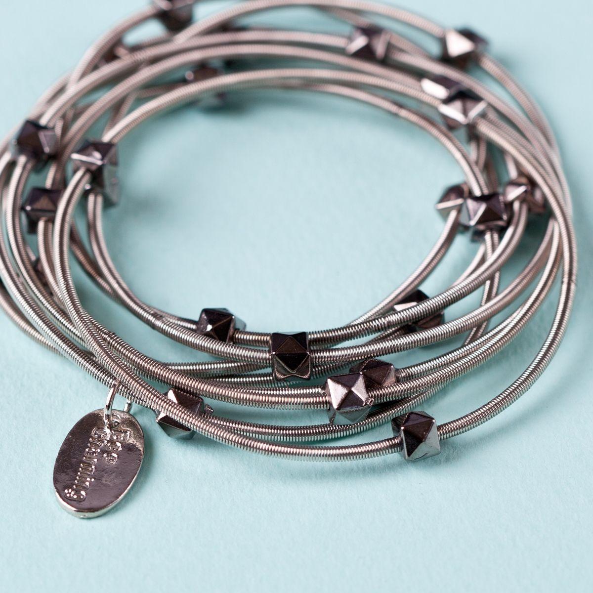 Recycled guitar string jewelry - Piano Wire Jewelry