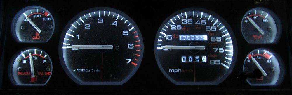 jeep cherokee xj 1984 - 1996 white led speedometer, gauge & dash light kit  #asapspeedo