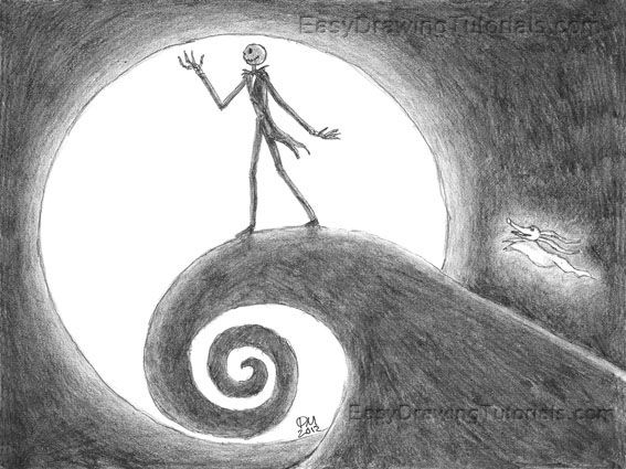 Nightmare Before Christmas Drawing | just *---* | Pinterest ...