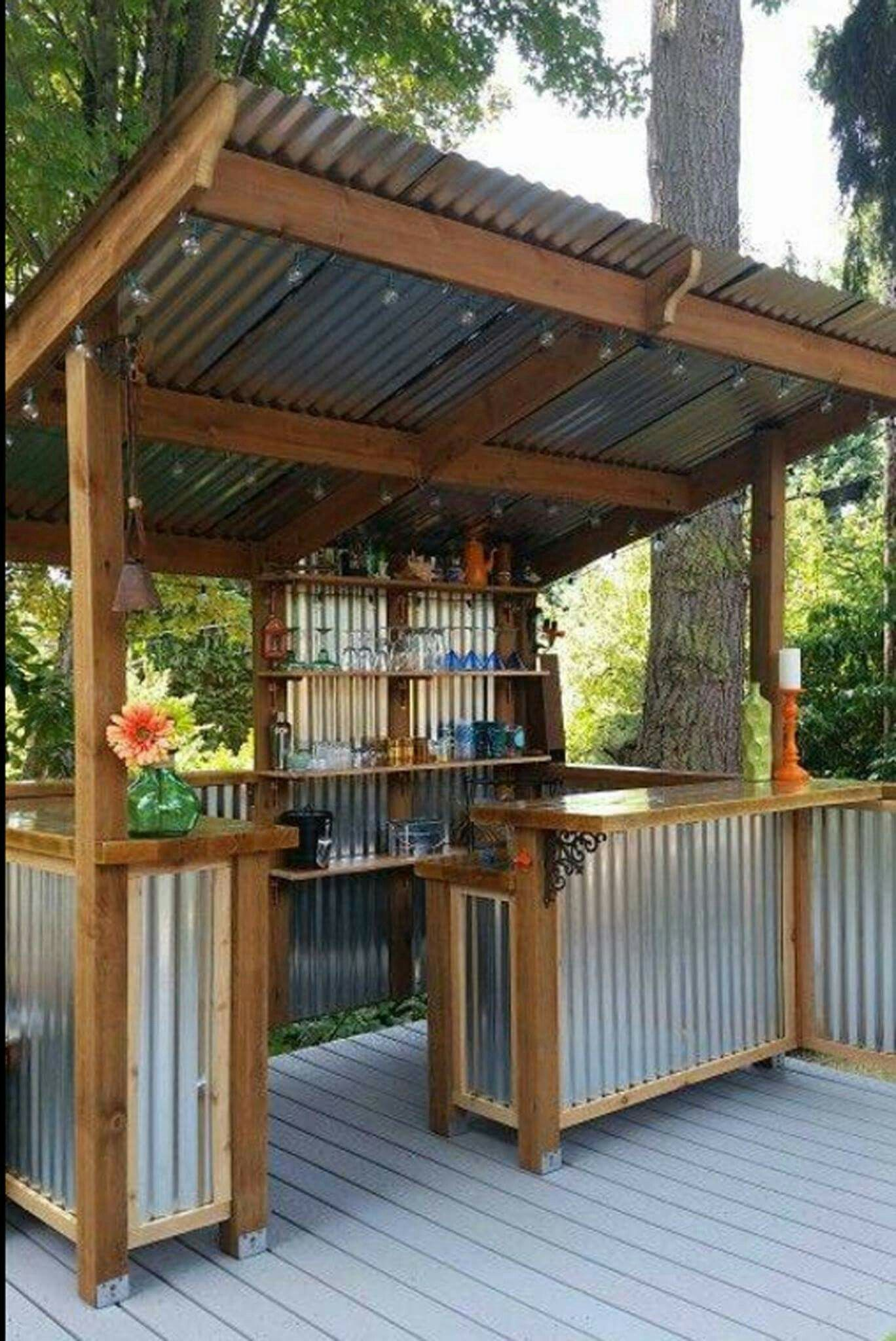 Tin Bbq Prep Station Back Yard Ideas That I Love