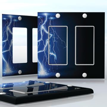 Diy do it yourself home decor easy to apply wall plate wraps diy do it yourself home decor easy to apply wall plate wraps lightning night solutioingenieria Gallery