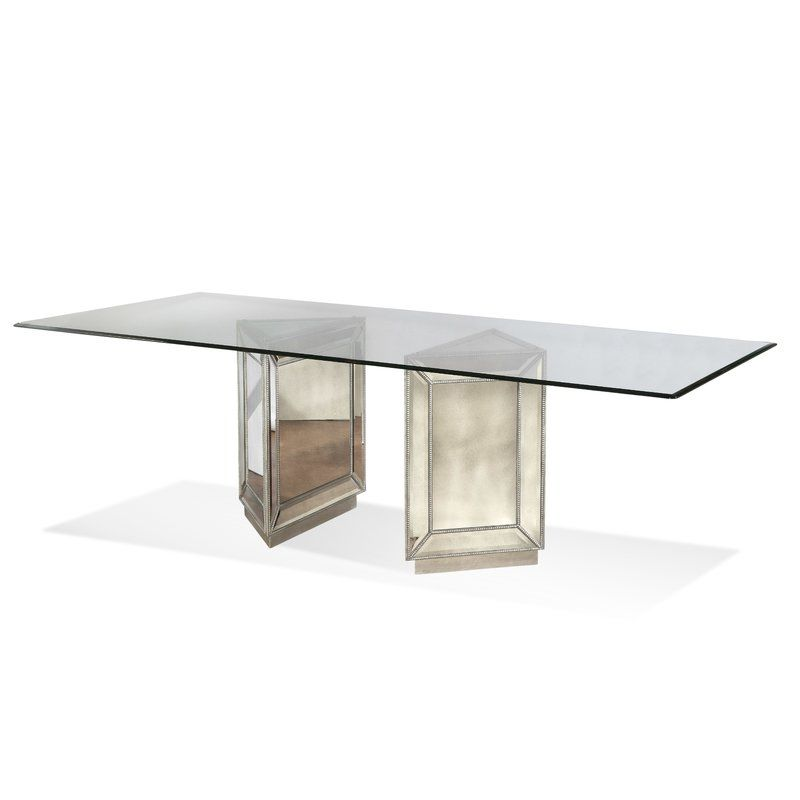 Frasier Mirrored Dining Table Dining Table Glass Dining Table