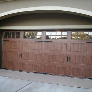 Clopay Gallery Collection Steel Garage Doors With Ultra Grain Faux Wood  Finish. Installed By