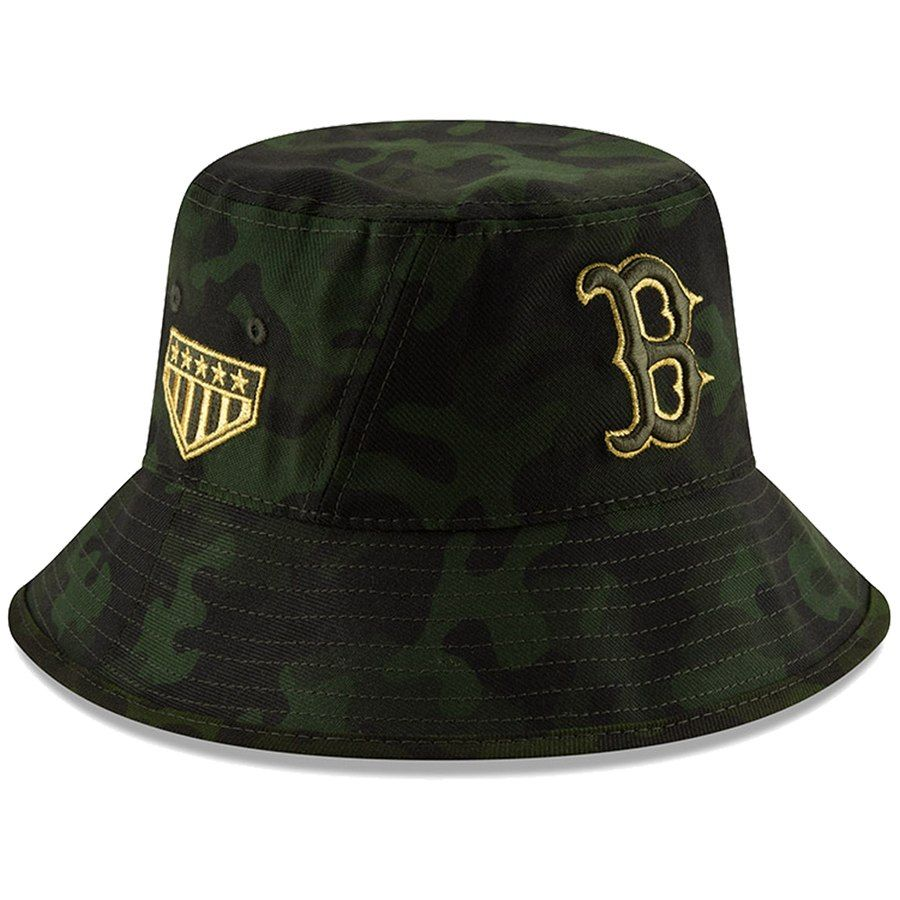 8e85a2d6cf6be0 Boston Red Sox New Era 2019 MLB Armed Forces Day Bucket Hat - Camo, Your