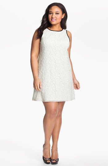 "ABS by Allen Schwartz 'Venise"" Lace Shift Dress (Plus) available at Nordstrom"