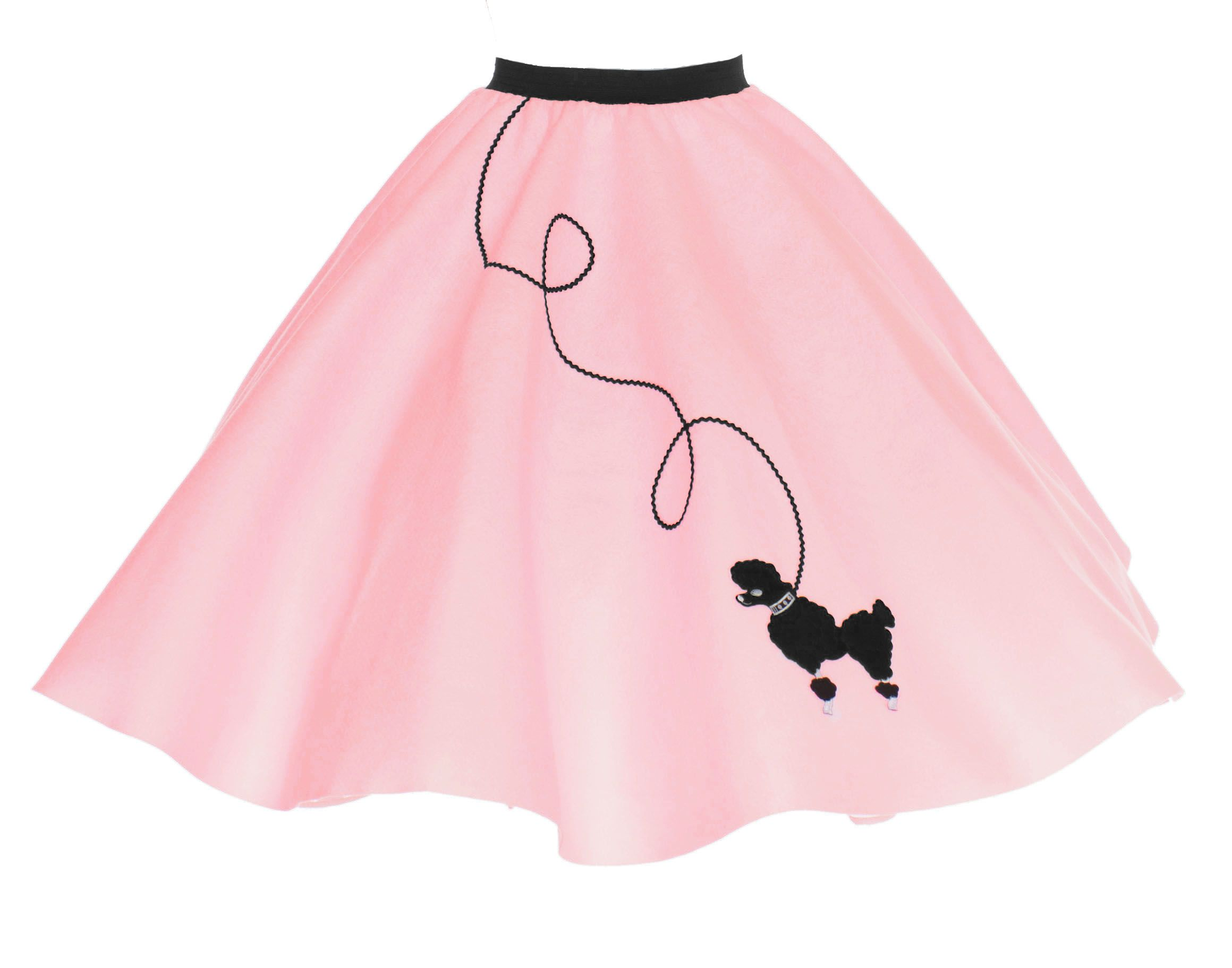 Party Amp Occasions Long Pink Skirt Poodle Skirt 50s