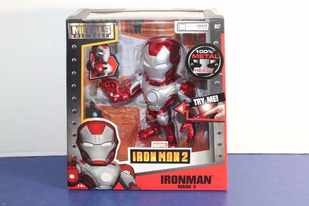 "Metalfigs MARVEL Iron Man Civil War 6/"" Jada métaux Light up Figure Toy"
