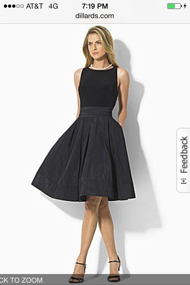 Lauren Ralph Lauren Fit And Flare Dress Dress Up Time Pinterest