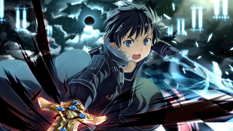 Sword Art Online Sword Art Online Kirito Dual Wields Picture Hd Sword Art Online Wallpaper Sword Art Online Kirito Sword Art Online Season