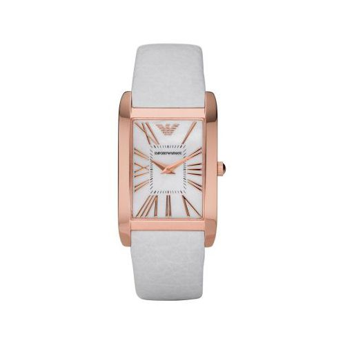 Pretty I Could Wear This Armani Ar2047 Super Slim Mother Of Pearl Dial Women S Watch Armani Watches White Rose Gold Watch Fashion Watches