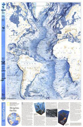 Atlantic Ocean Floor Map 1990 C1 W18 Supplement To Ocean