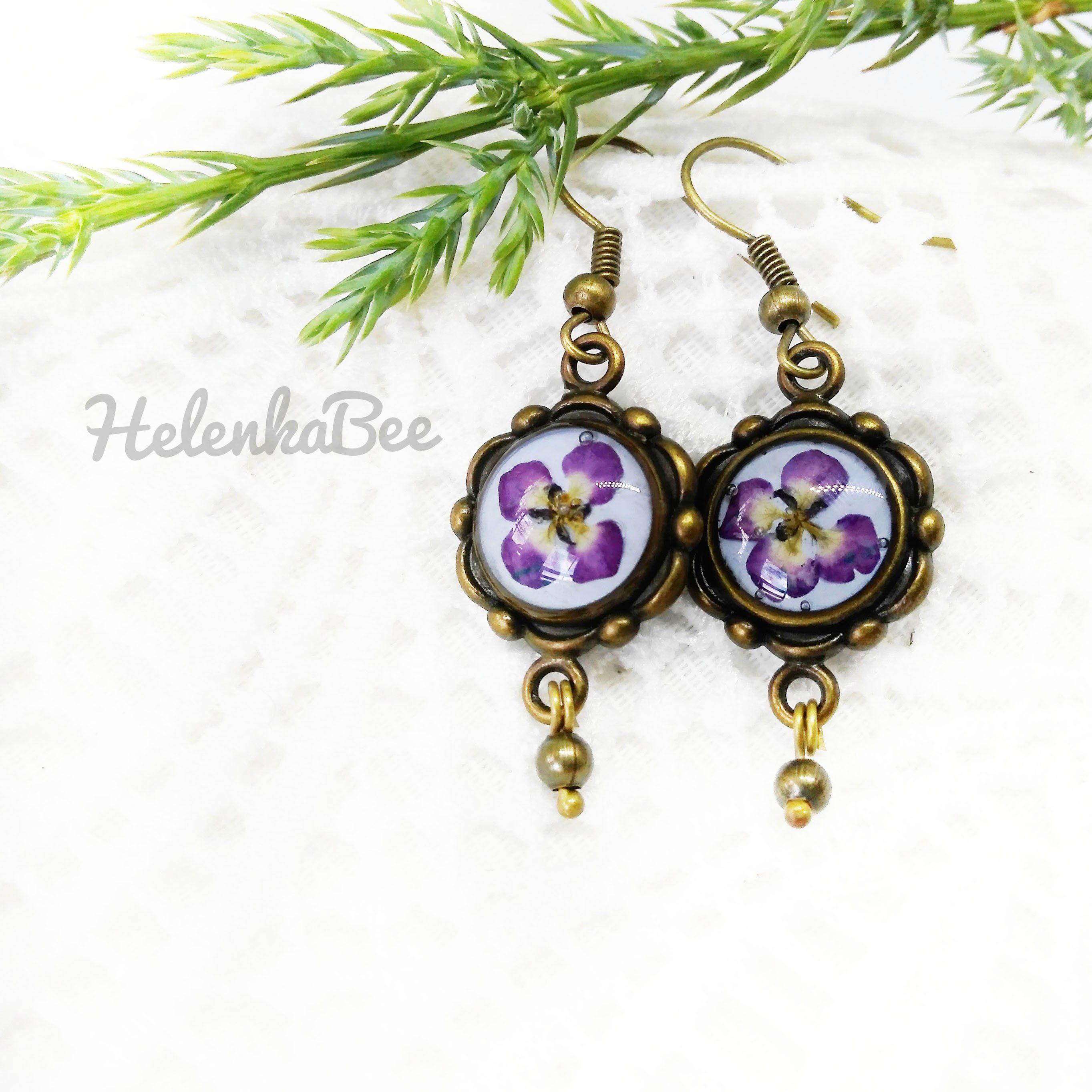 Purple Uillen Earrings