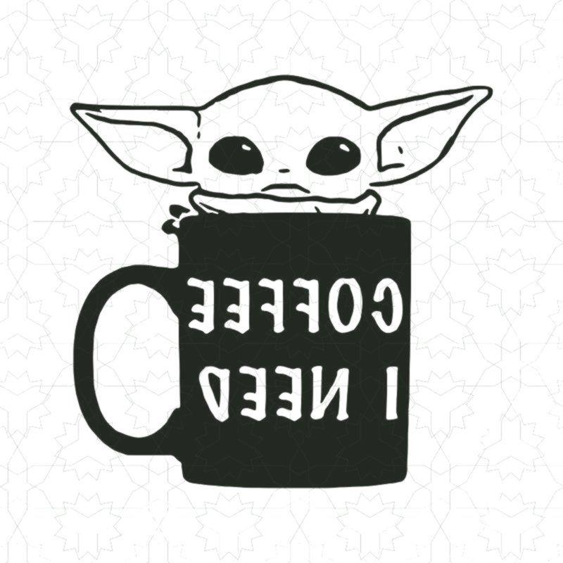 Baby yoda coffee i need svg baby yoda coffee vector t