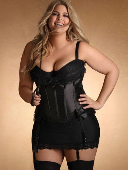 plus-size burlesque corset | hips & curves | 1) lovely lingerie