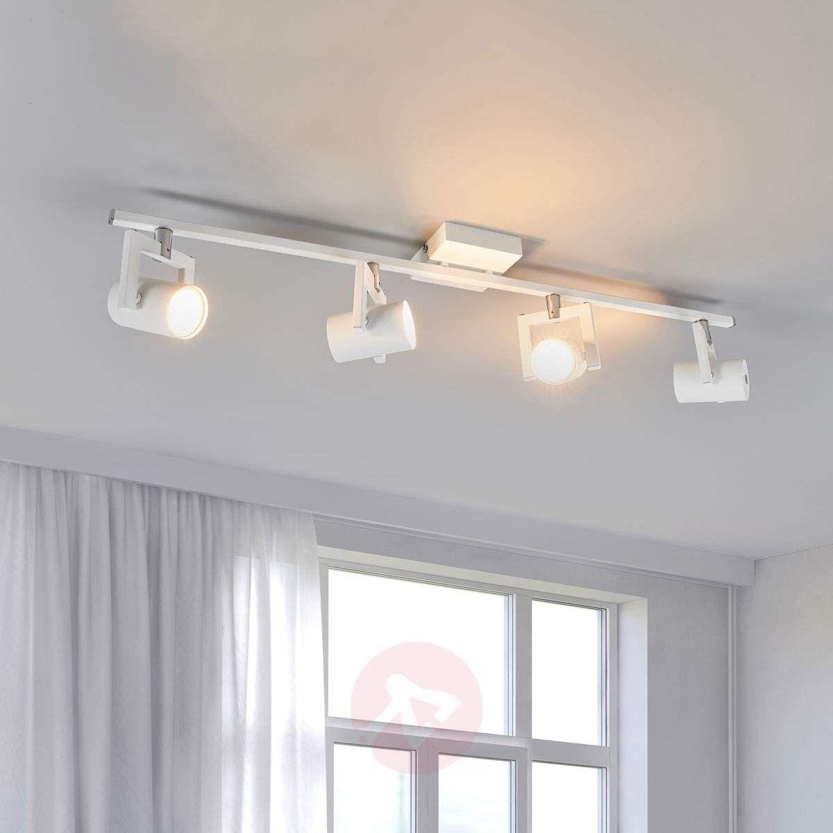 Biała Lampa Sufitowa Led Sulamita 4 Punktowa Lampy