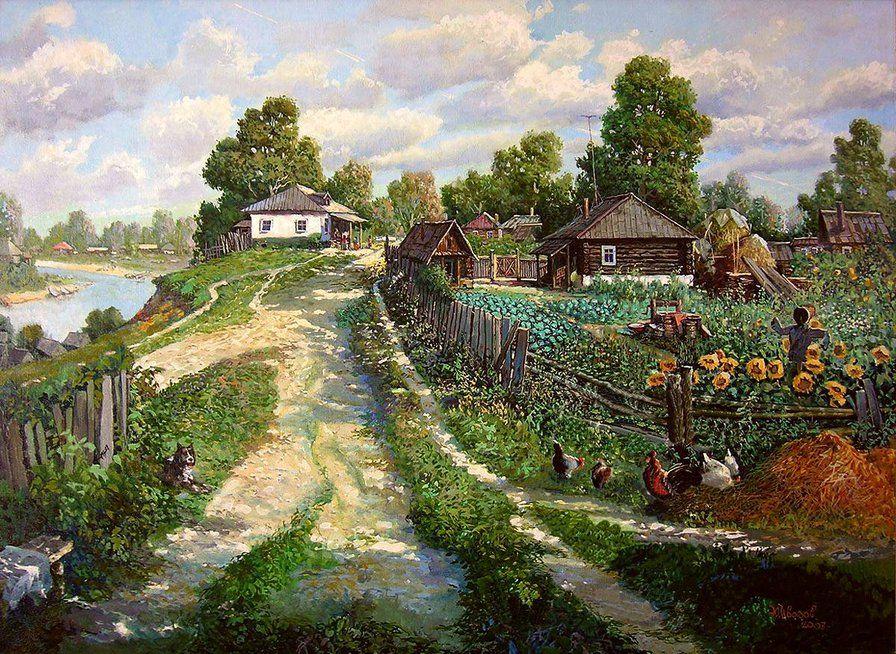 Сельские пейзажи вышивка крестом