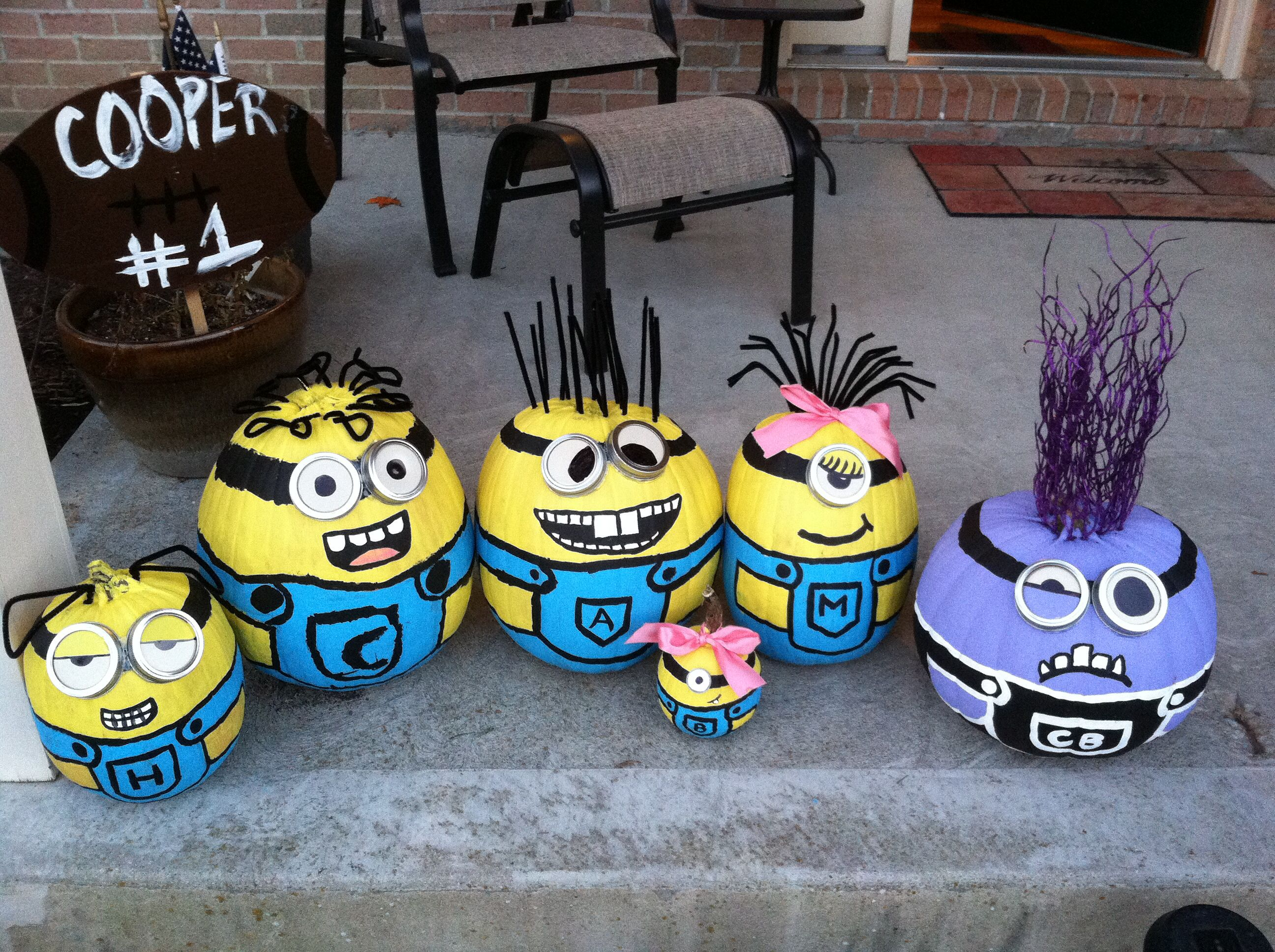 Painted Minion Pumpkins Our Minion Pumpkins For Halloween Craft Paint Multiple Coats