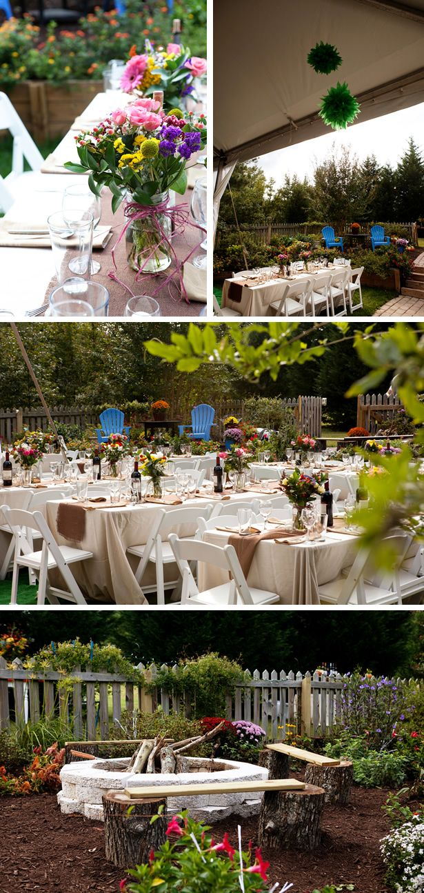 backyard garden wedding in virginia wedding wildflower