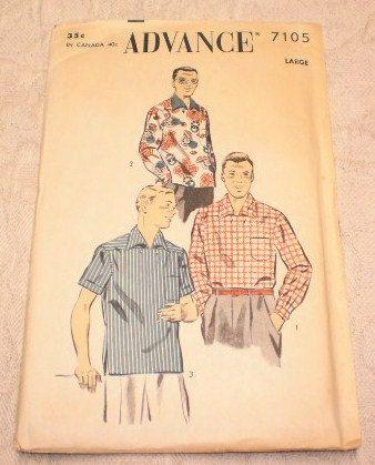 Sewing Pattern Mens Hawaiian Swing Dance di VintageCarolina