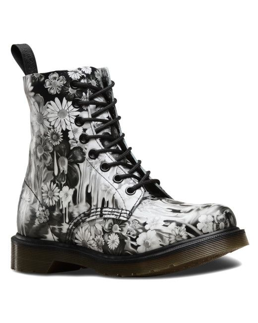 399eddc108cf Women's Pascal Printed Leather Ankle Boots | Doc Martens | Black ...