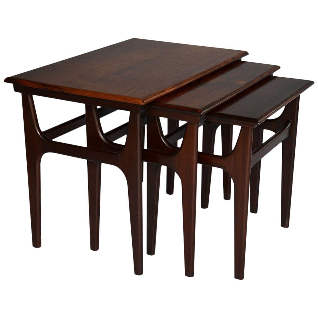Nesting tables by danish furniture manufacturer danish furniture