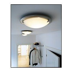 Good low-profile ceiling light for the loft (and bathroom?) PULT Ceiling l& - - IKEA  sc 1 st  Pinterest & PULT Ceiling lamp steel | Pinterest | Ceilings Hallway lighting ...