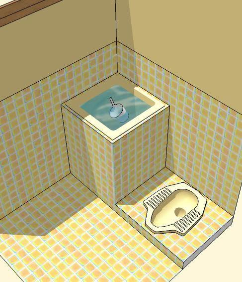 Squat toilet jongkok. Healthier.