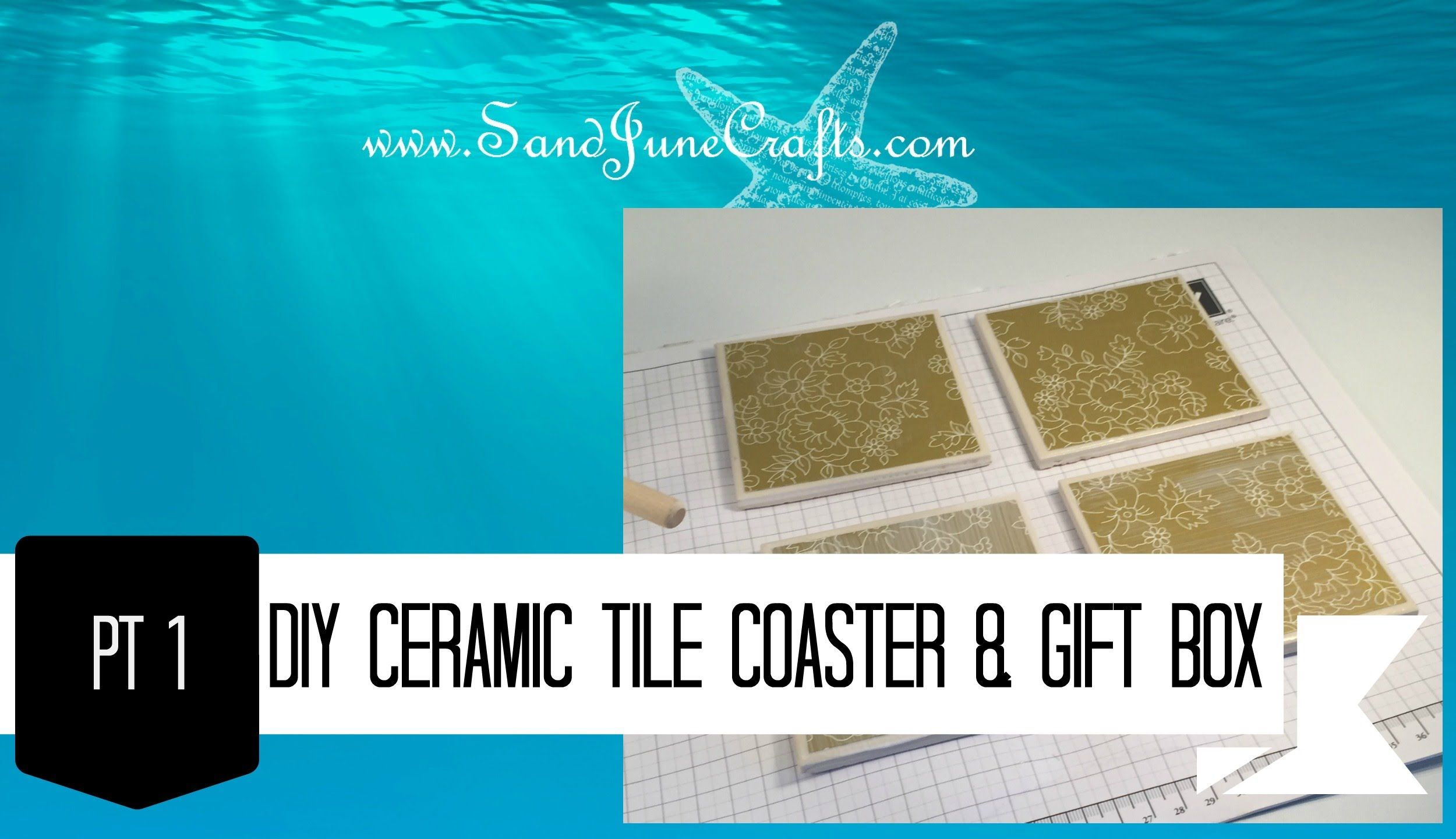 Make gift boxes for tile coasters pt 1in this video june shows make gift boxes for tile coasters pt this video june shows you how to make coasters using ceramic tiles from the hardware store and designer series paper dailygadgetfo Gallery