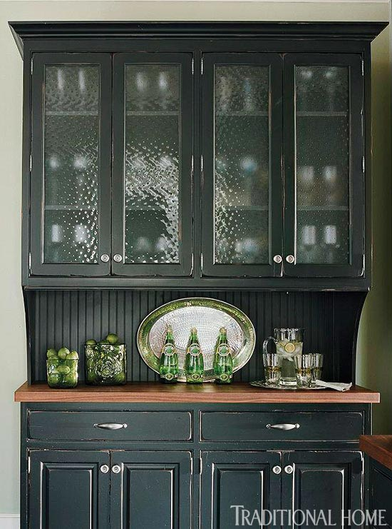 Photo of Distinctive Kitchen Cabinets with Glass-Front Doors
