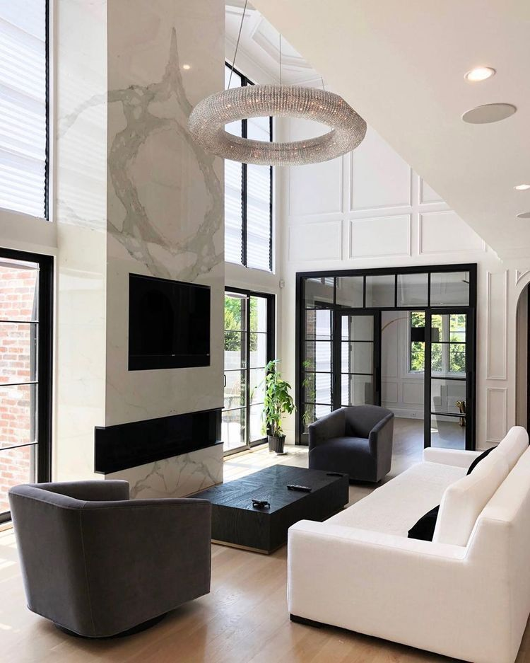 Small Living Room Ideas For More Seating And Style: Modern White Living Room In Restoration Hardware Style