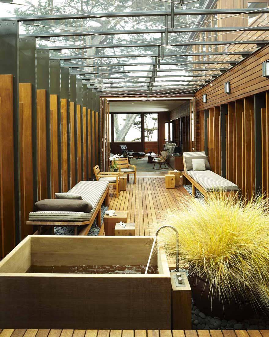 ガラスルーフのテラスのお風呂 ハウスデザイン 住宅建築デザイン