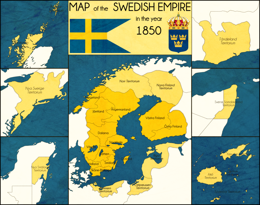 Swedish Empire By Intrepidtee On Deviantart Imaginary Maps Map Historical Maps