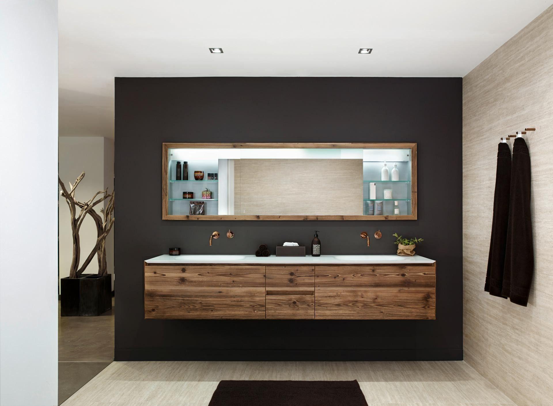 Idee Von Susanne Auf Badezimmer Waschtisch Holz Unterschrank