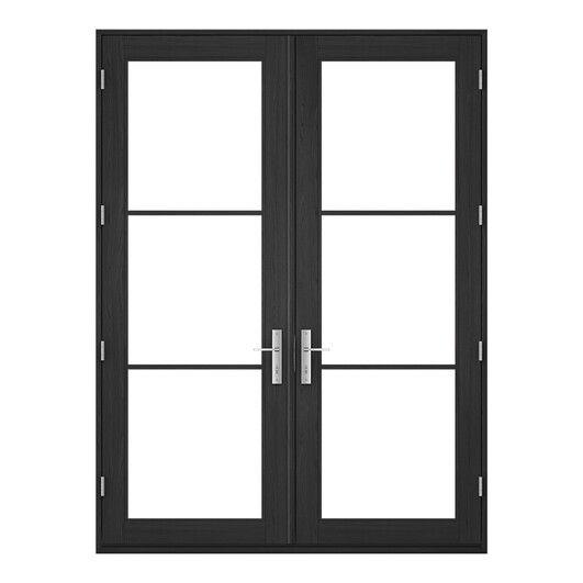 Pella Architect Series Contemporary Hinged Patio Doors Patio