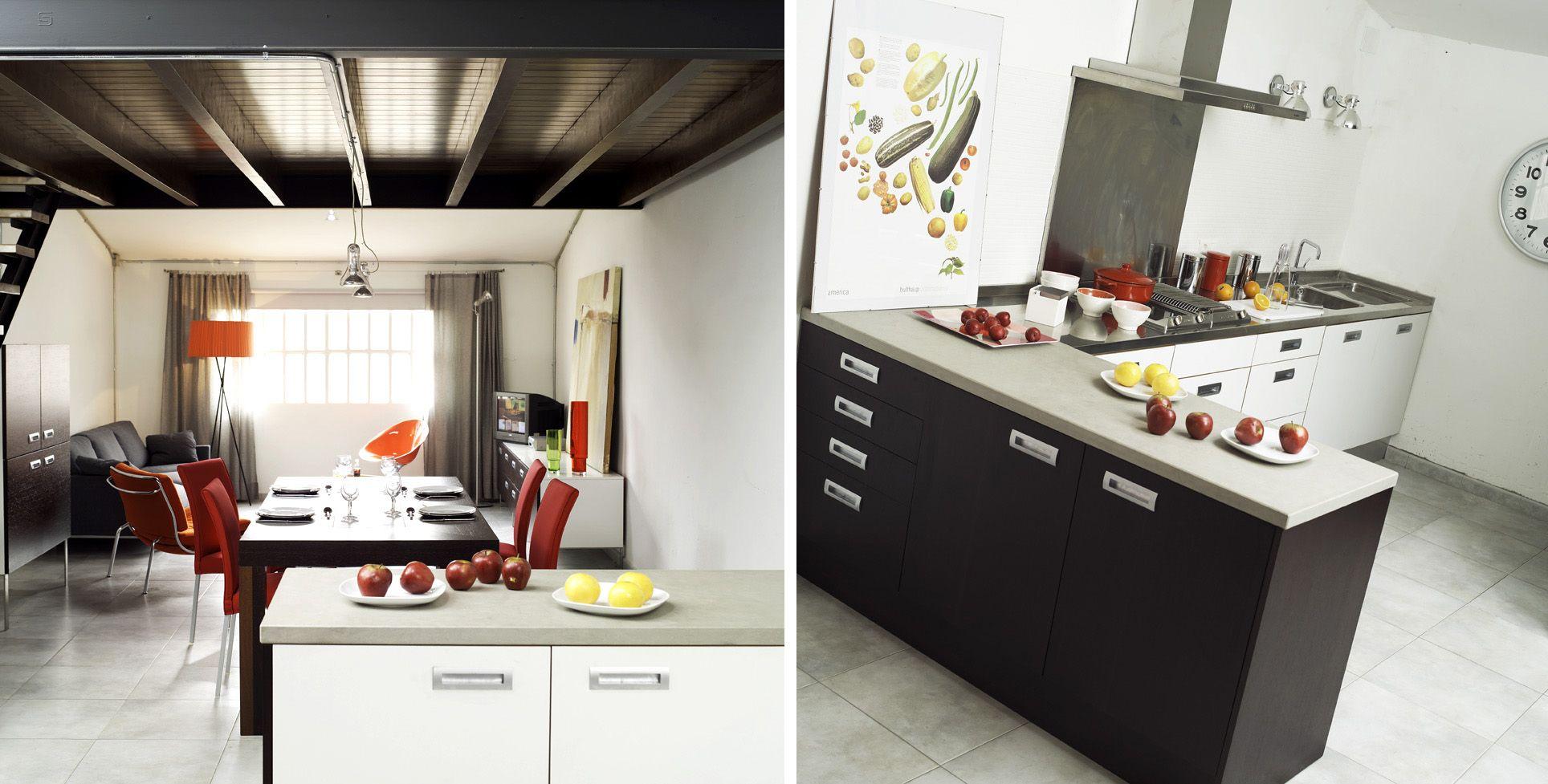 Decoracion #Moderno #Comedor #Cocina #Sala de estar #Sillas #Comodas ...