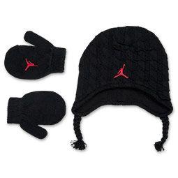 Toddler Jordan Houndstooth Hat and Gloves Set  57af4c66140
