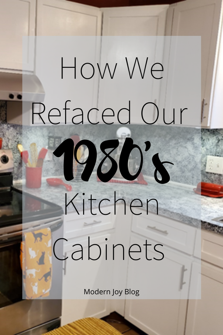 How We Refaced Our 1980 S Kitchen Cabinets On A Budget Diy Kitchen Cabinets Diy Kitchen Remodel Cheap Kitchen Cabinets