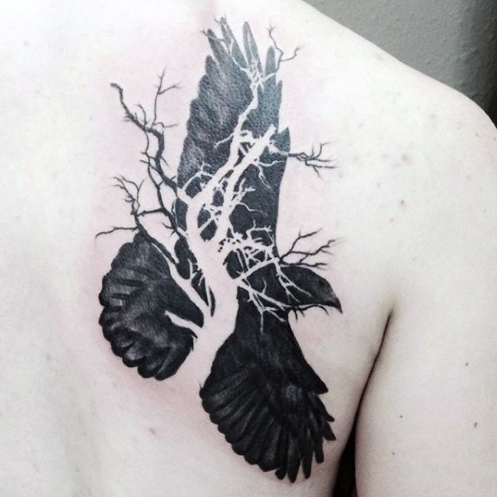 tattoo design concepts raven tattoo for men and women from. Black Bedroom Furniture Sets. Home Design Ideas