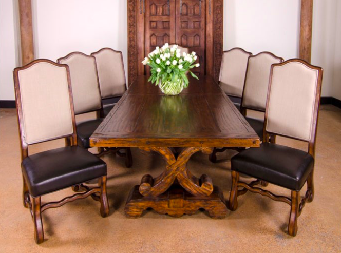 Blowing Rock 108 144 Extension Dining Table Chestnut