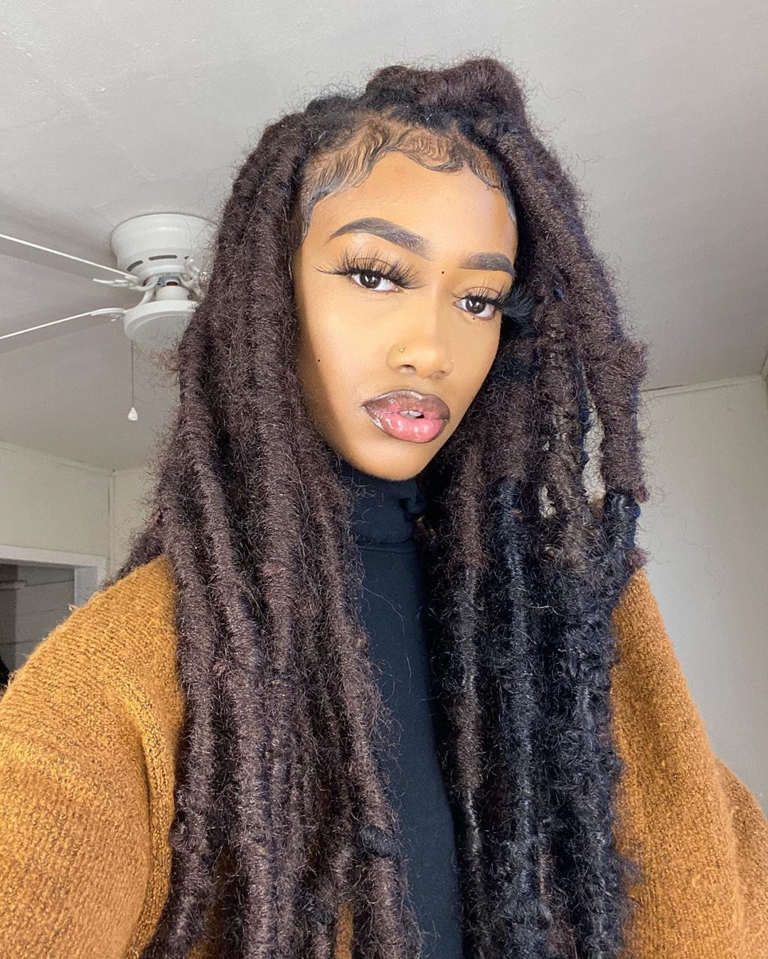 Hair Page For Flex On Instagram Jumbo Marley Locs I M Still Doing Hair In April Let S Just All Stay Clean Ladies Locs M Locs Hair Cleaning Lady