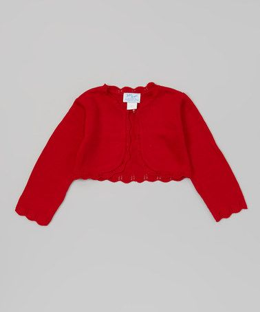Take a look at this Red Knit Bolero - Toddler by Julius Berger on #zulily today!