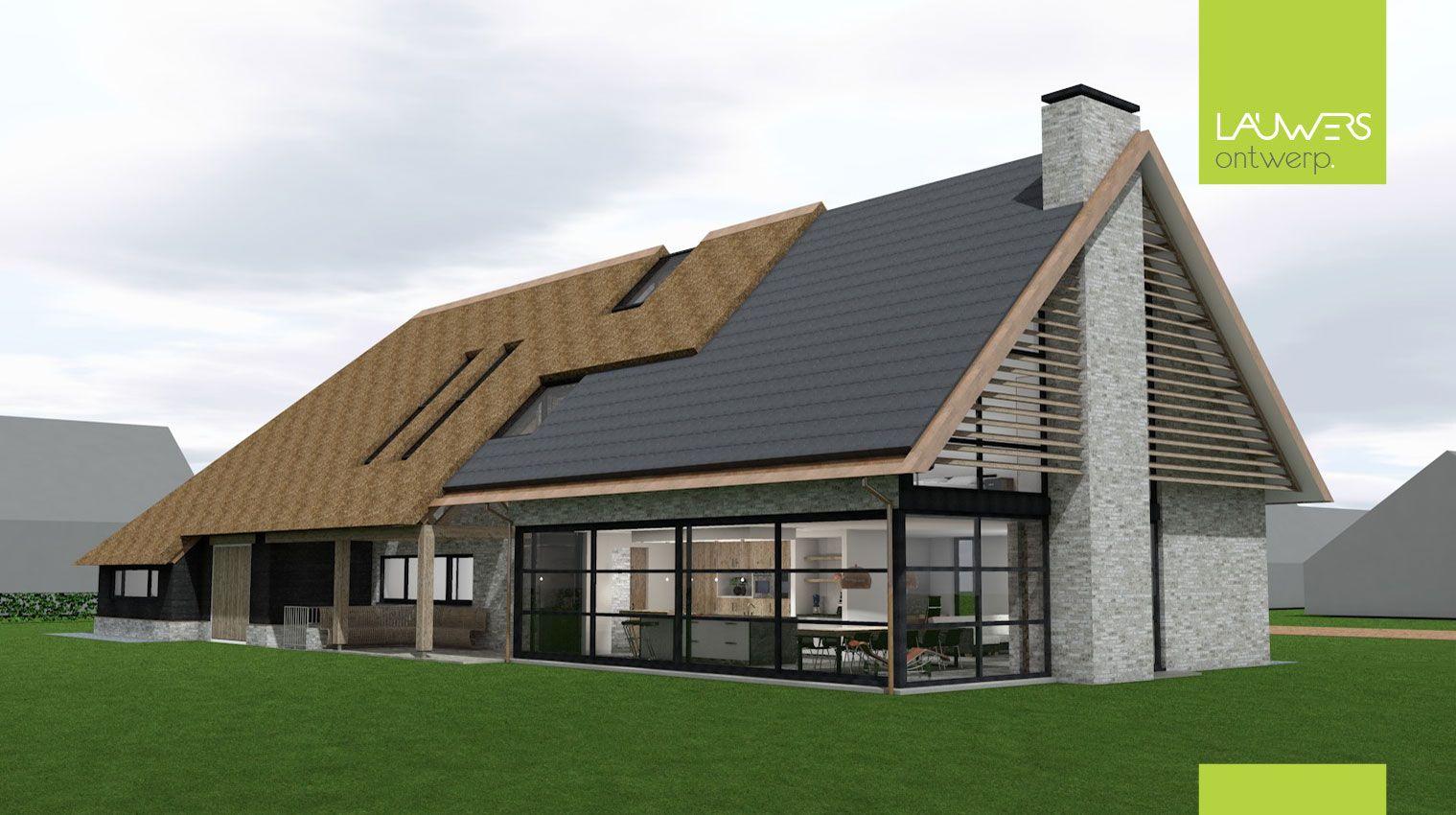 Moderne landelijke langgevelboerderij te reusel woningidee n pinterest house architecture - Eigentijds pergola design ...