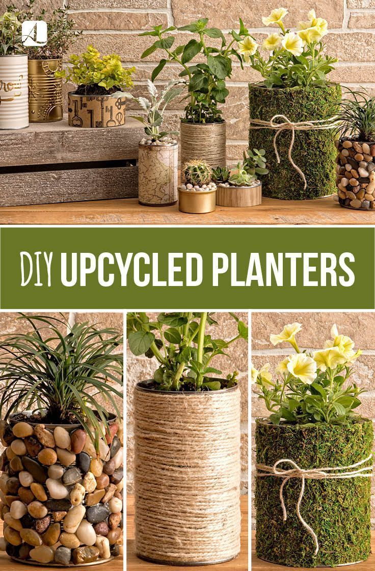 Upcycled Planters | DIY Crafts #homedecor #upcycle #planters