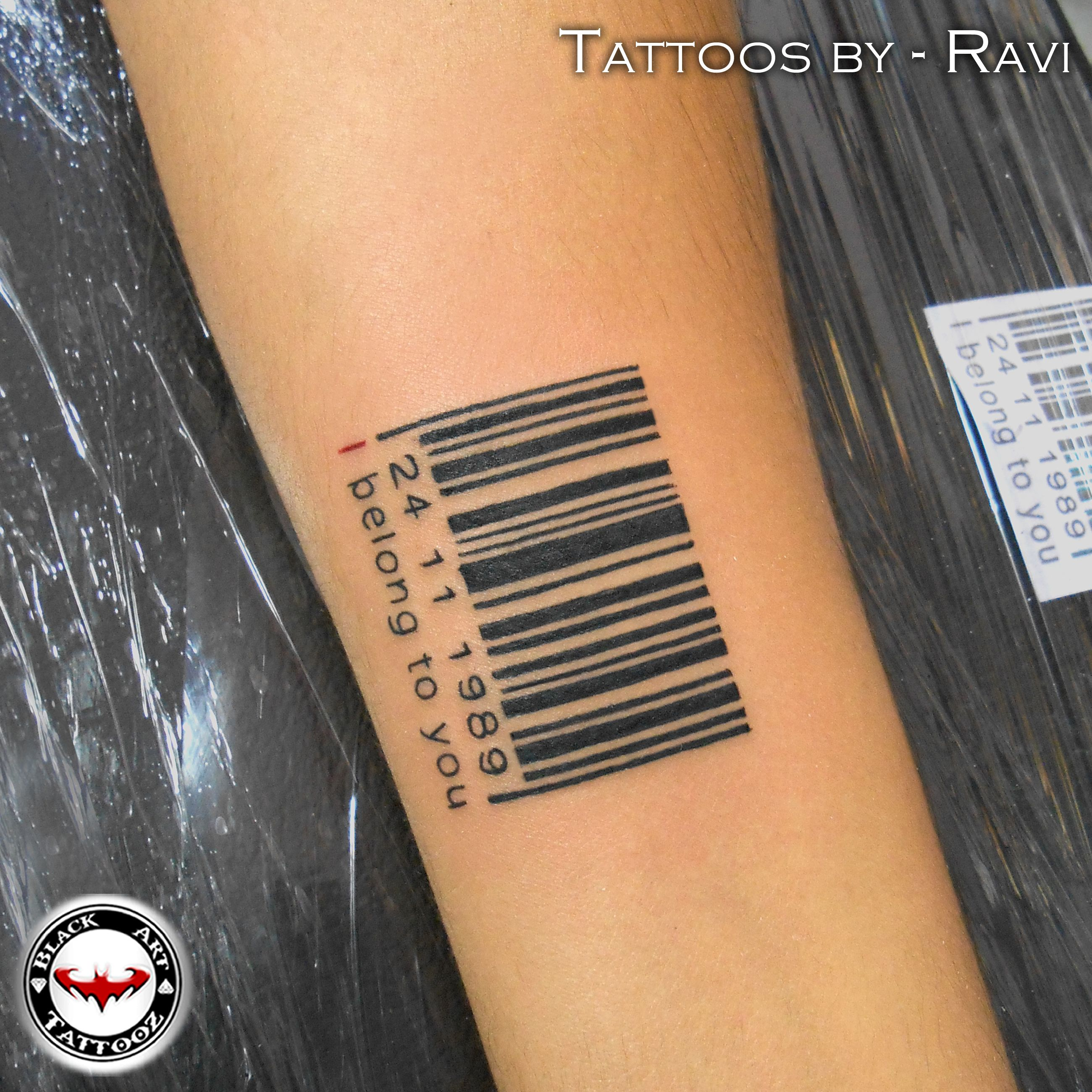 Barcode Tattoo On Wrist