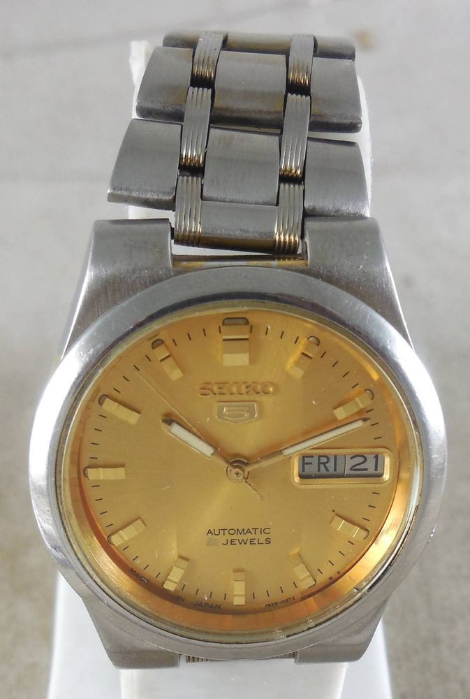 Original VINTAGE SEIKO 5 Automatic 17J Japan 7009-876A Running Watch D&D@3#w2199 #Seiko